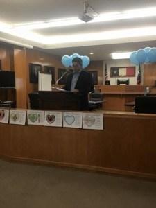 State Representative Chris Paddie spoke at the event. (KMHT Radio FM 103.9 Photo)