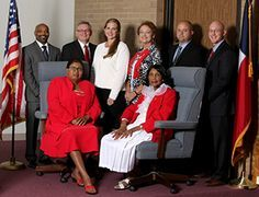 MISD Board of Trustees with former school superintendent, Dr. Marc Smith. (MISD Photos)