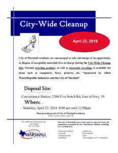 City Wide Cleanup - April 23, 2016