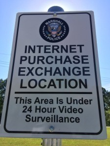MPD joins trend of making Internet Purchase Exhange Locations in its parking lot. (MPD Photo)