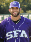 Jackson Hood during his days of playing at Stephen F. Austin University. (SFA Photo)