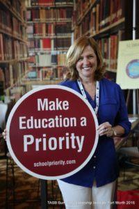 MISD School Board President, Mrs. Helen Warwick, at the TASB SLI Session in Fort Worth earlier this summer.