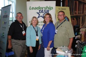 MISD Board President Helen Warwick (second from right, in blue), with fellow TASB members from left: Pedro Rodriguez (Taft ISD), Shelley Wells (KIlleen ISD) and Paul Bingham (Spurger ISD).