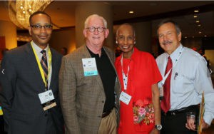 MISD Trustee Mrs. Charles Wilson, with fellow TASB members from left: Ted Beard (Longview ISD); Jim Crow (TASB Executive Director); and Carlos Nieto (past TASB President, Presidio ISD).