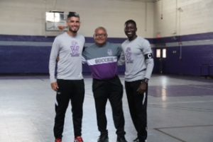 Genaro Trevino (left) and Tafadzwa Madamombe were named team captains by Wiley College head men's soccer coach Demetrio Hernandez