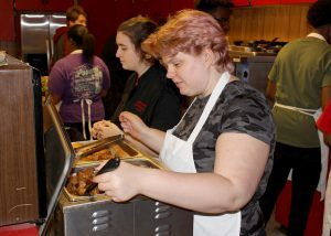 Culinary Arts students prepare, serve and host the luncheon for the School Priority Tour on Thursday, Oct. 20, at MHS.